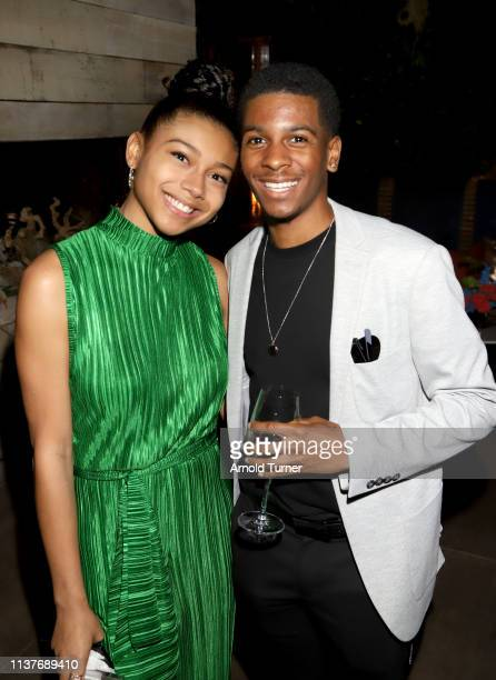 Sierra Capri and Brett Gray attend Netflix's NAACP Image Awards Nominee Celebration at Hinoki & The Bird on March 22, 2019 in Los Angeles, California.