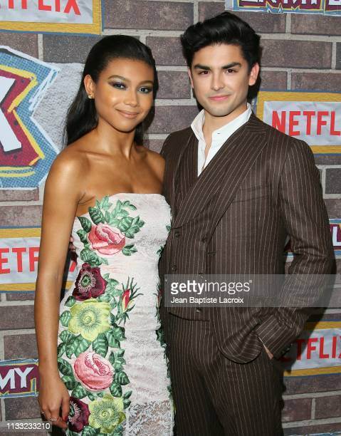 Sierra Capri and Diego Tinoco attend the premiere of Netflix's 'On My Block' Season 2 held at Petty Cash Taqueria on March 27 2019 in Los Angeles...