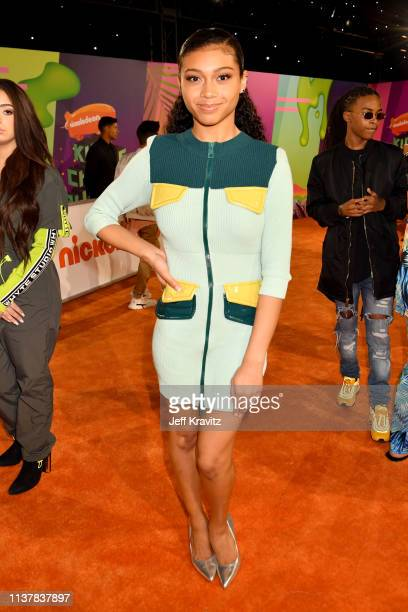 Sierra Capri attends Nickelodeon's 2019 Kids' Choice Awards at Galen Center on March 23 2019 in Los Angeles California