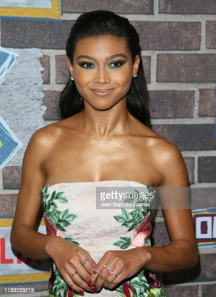 Sierra Capri attends the premiere of Netflix's 'On My Block' Season 2 held at Petty Cash Taqueria on March 27 2019 in Los Angeles California