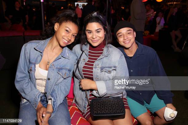 Sierra Capri Jessica Marie Garcia and Jason Genao attend City Year Los Angeles' Spring Break Destination Education at Sony Studios on May 04 2019 in...