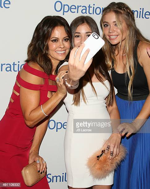 Sierra Fisher Brooke BurkeCharvet and Neriah Fisher attend Operation Smile's 2015 Smile Gala event held at The Beverly Wilshire Four Seasons Hotel on...