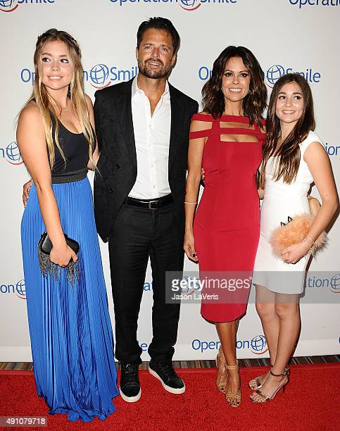 Sierra Fisher, David Charvet, Brooke Burke-Charvet and Neriah Fisher attend Operation Smile's 2015 Smile Gala at the Beverly Wilshire Four Seasons...
