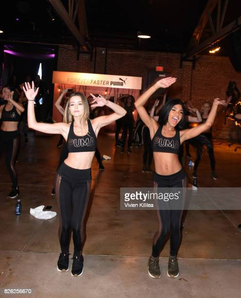 Sierra Furtado and Teala Dunn attend PUMA Hosts CAMP PUMA To Launch Their Newest Women's Collection Velvet Rope at Goya Studios on August 3 2017 in...
