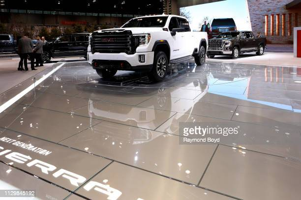 Sierra is on display at the 111th Annual Chicago Auto Show at McCormick Place in Chicago Illinois on February 7 2019