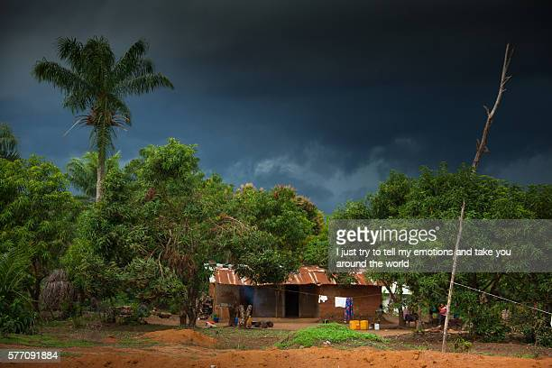 sierra leone, village of yongoro - sierra leone stock pictures, royalty-free photos & images