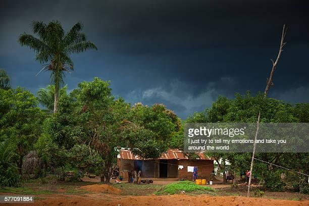 sierra leone, village of yongoro - sierra leone stock-fotos und bilder