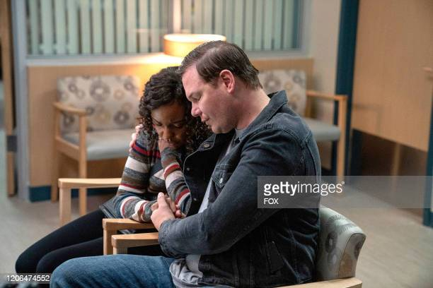 Sierra McClain and Jim Parrack in the Monster Inside episode of 911 LONE STAR airing Monday March 2 on FOX