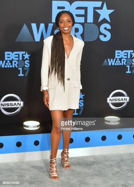 Sierra McClain attends the 2017 BET Awards at Microsoft Theater on June 25 2017 in Los Angeles California