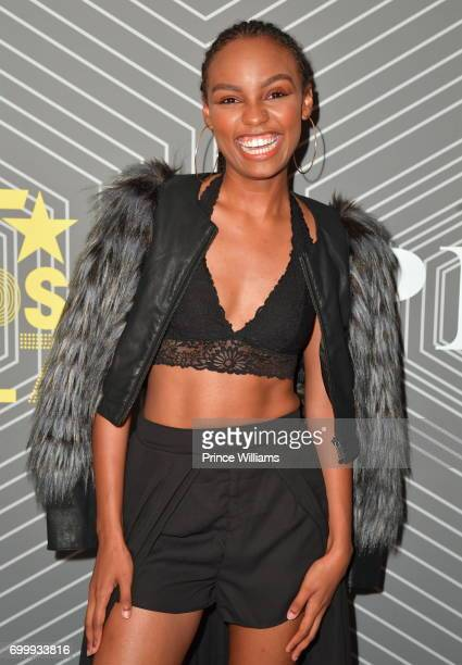 Sierra McClain attends the Debra Lee PreBET Awards Dinner at The London West Hollywood on June 21 2017 in West Hollywood California