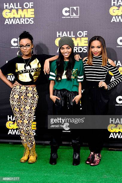 Sierra McClain, China Anne McClain and Lauryn McClain arrive at the 4th Annual Cartoon Network Hall Of Game Awards at Barker Hangar on February 15,...