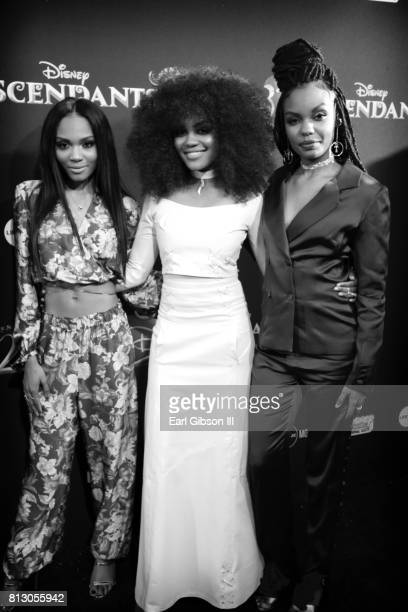Sierra McClain China Anne McClain and Lauryn McClain attend the Premiere Of Disney Channel's Descendants 2 at The Cinerama Dome on July 11 2017 in...