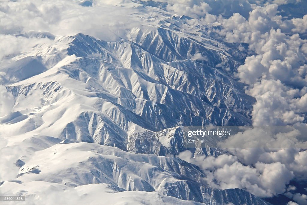 Sierra Nevada Mountain Range In California Aerial Shot High Res Stock Photo Getty Images