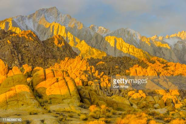 sierra nevada region in california - lone pine california stock pictures, royalty-free photos & images