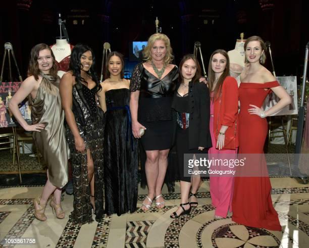 Sierra White Dorshelle Guillaume Aura Henriquez Emme Laurel Yau Jessica Trusio and Breanna Childers attend the 2019 Underfashion Club Femmy Awards at...