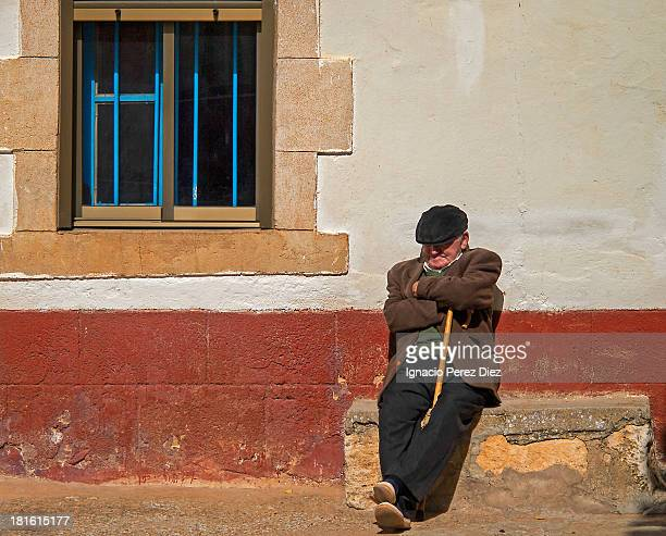 Siesta after lunch of a typical Spanish villager