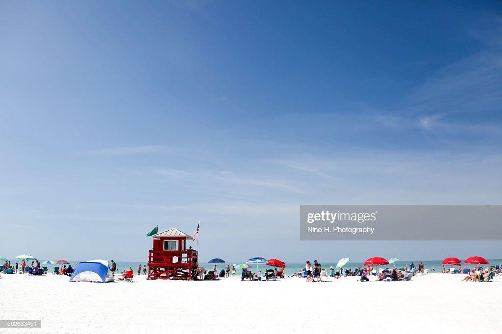 Siesta beach - Sarasota - Florida : Stock-Foto