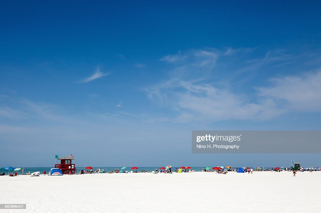 Siesta beach - Sarasota - Florida : Stock Photo