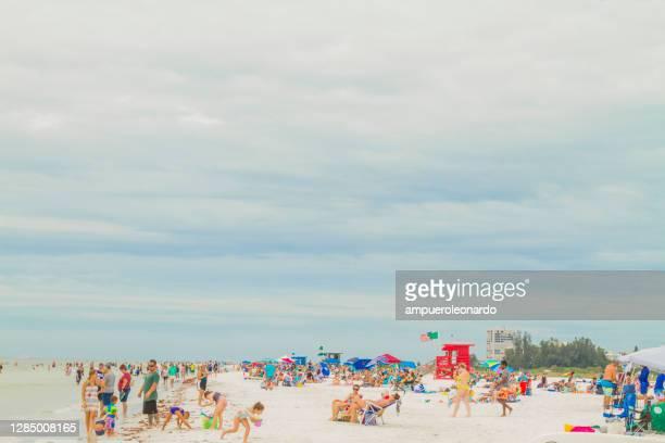 siesta beach, sarasota, florida, stati uniti d'america - siesta key foto e immagini stock