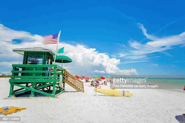 siesta key beach at sarasota, florida, usa - siesta key - fotografias e filmes do acervo