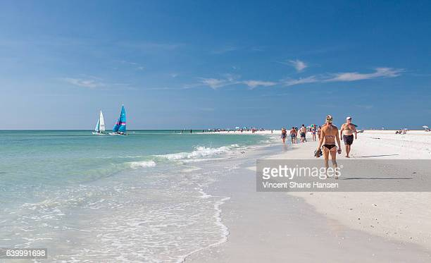 siesta key beach - siesta key stock pictures, royalty-free photos & images