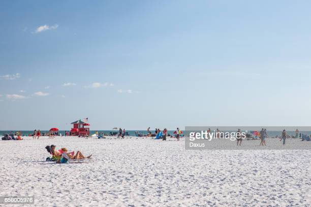 siesta key beach - siesta key - fotografias e filmes do acervo