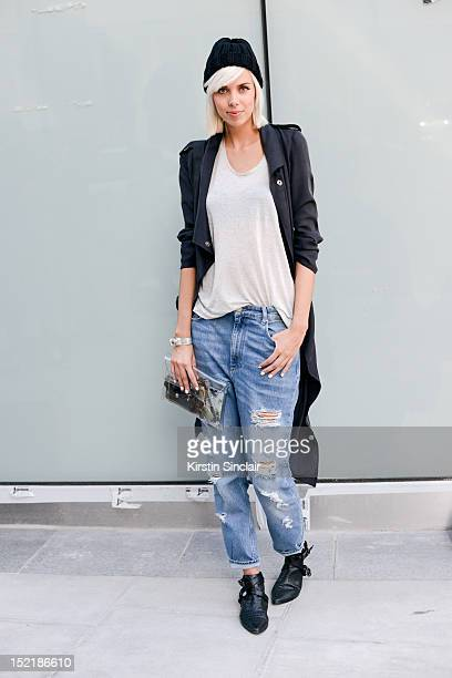 Sietske lamers fashion blogger, wearing Shoes from Joyous.com, Minki jeans, Minusey clutch bag, Cos t shirt, Avelon jacket. Romwe sunglasses and a...