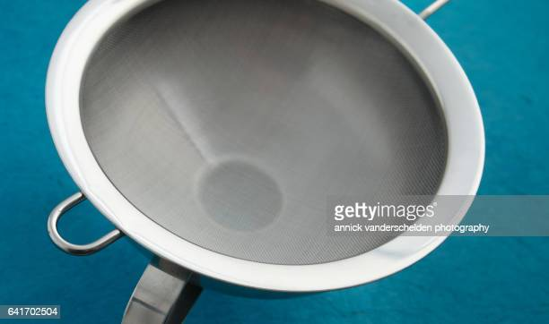 Sieve and funnel.