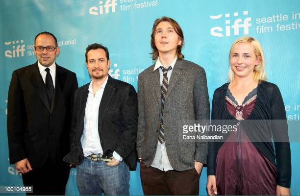 Siff Director Carl Spence Director Robert Pulcini Actor Paul Dano and Actress Alicia Goranson attend the premiere of ''The Extra Man'' during the...