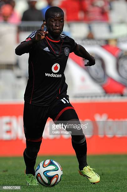 Sifiso Myeni of Pirates in action during the Absa Premiership match between Bloemfontein Celtic and Orlando Pirates at Free State Stadium on April...