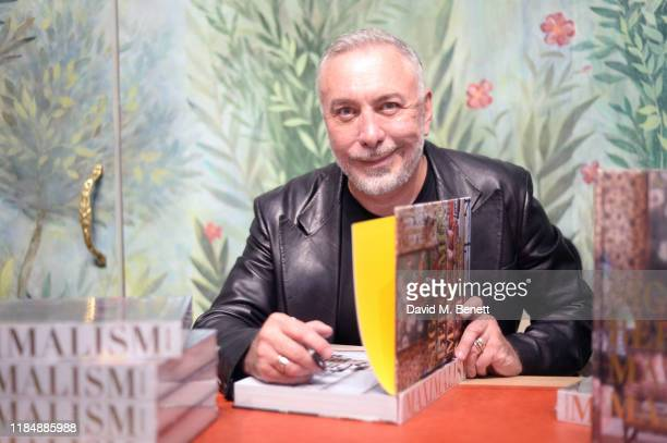 Sig Bergamin attends the book signing cocktail party celebrating Brazilian designer Sig Bergamin hosted by De Gournay and Assouline on November 01...