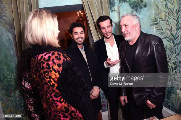 Sig Bergamin with guests at the book signing cocktail party celebrating Brazilian designer, Sig Bergamin, hosted by De Gournay and Assouline, on...