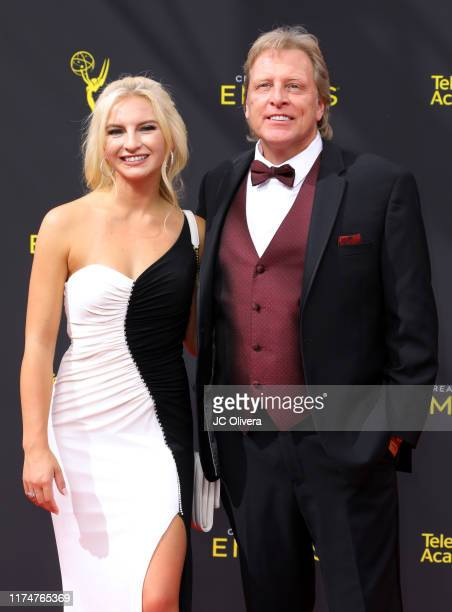 Sig Hansen and Mandy Hansen attend the 2019 Creative Arts Emmy Awards on September 14 2019 in Los Angeles California