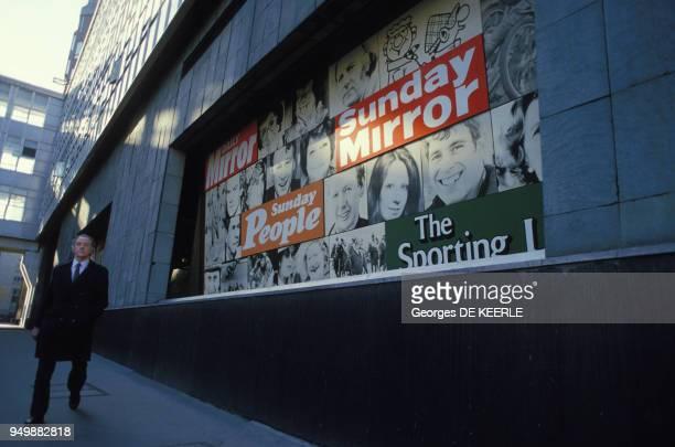 Siège du journal 'Sunday Mirror' à Fleet Street en janvier 1986 à Londres RoyaumeUni