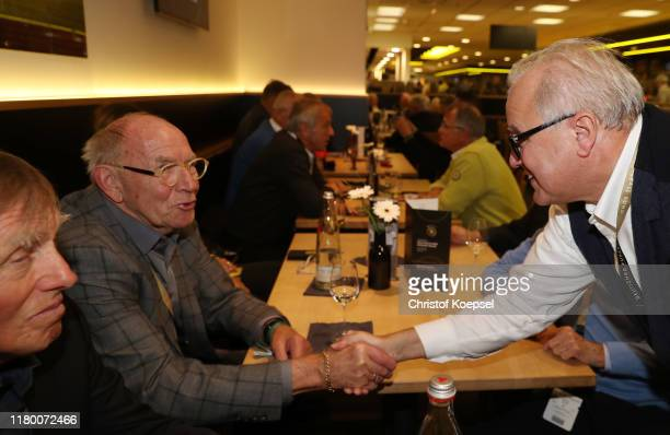 Siggi Heldd Wolfgang Paul and Fritz Keller DFB president attend the Club Of Former National Players Meeting at Signal Iduna Park on October 09 2019...