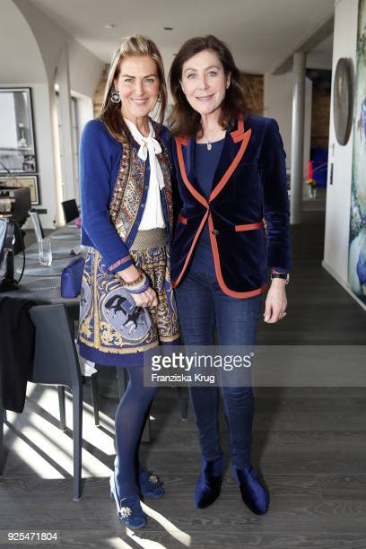 Siggi Spiegelburg and Alexandra von Rehlingen during the Lanserhof Ladies Lunch at Loft am Mauerpark on February 28 2018 in Berlin Germany