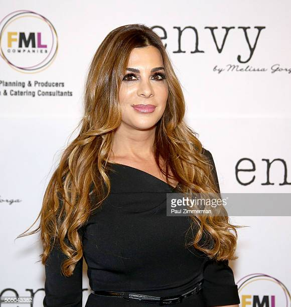 Siggy Flicker attends envy by Melissa Gorga Boutique Grand Opening at envy by Melissa Gorga Boutique on January 14 2016 in Montclair New Jersey