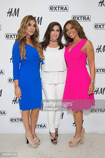 Siggy Flicker Jacqueline Laurita and Dolores Catania visit 'Extra' at their New York studios at HM in Times Square on July 7 2016 in New York City