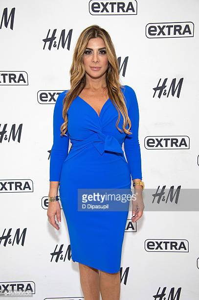 Siggy Flicker visits Extra at their New York studios at HM in Times Square on July 7 2016 in New York City