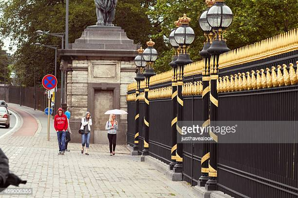 sight seeing at royals - royal palace brussels stock pictures, royalty-free photos & images