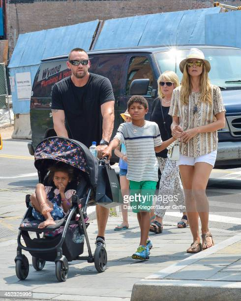 Sighting of Heidi Klum and Martin Kristen with Johan Samuel Leni Samuel Henry Samuel and Lou Samuel on June 24 2013 in New York City