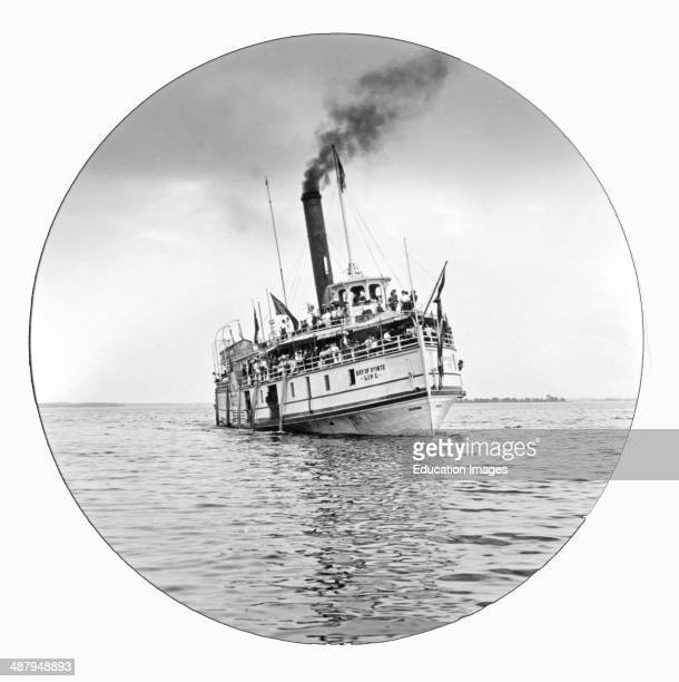 Sightseeing Boat, Bay of Quinte, Ontario, Canada, c. 1915, Vintage Photograph.