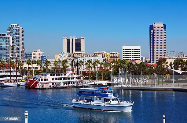 Sightseeing boat in the harbor of Long Beach.