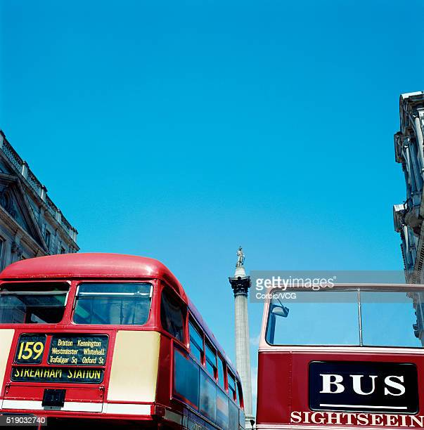 Sightseeing bus and London bus