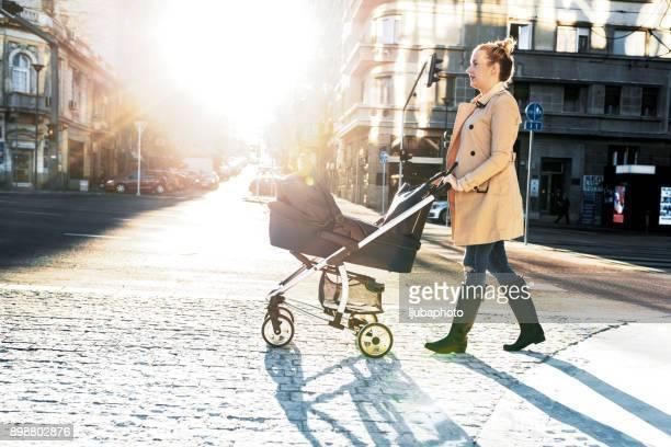 Sightseeing aus der Sicht des Kinderwagens