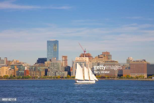 Sightseeing schooner on Hudson River, NYC