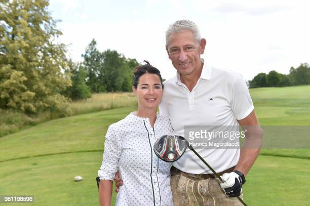 Sigi Able and his wife Sabine Able during the 7 M M EAGLES Charity LEDERHOS'N Golf Cup 2018 at Golfclub Castle EGMATING on June 22 2018 in Munich...