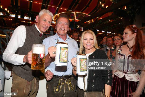 Sigi Able Arnold Schwarzenegger and his girlfriend Heather Milligan during the Oktoberfest 2019 at Theresienwiese on September 22 2019 in Munich...