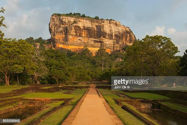 Sigiria with Royal Gardens ruins