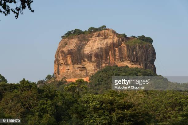 Sigiriya Lion Rock fortress, Sri Lanka at Sunset